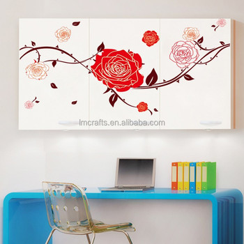 Decorative Sitting Room The Bedroom TV Setting Girls Children Room Rose  Peony Flower Background High Quality Part 80