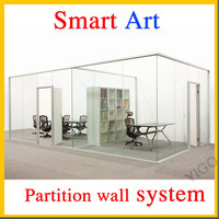 glass office fronts /wall divider panels /room divider wall systems