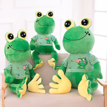 hot sale wearing clothes frog toy/lovely doll frog toy/smile face plush toys