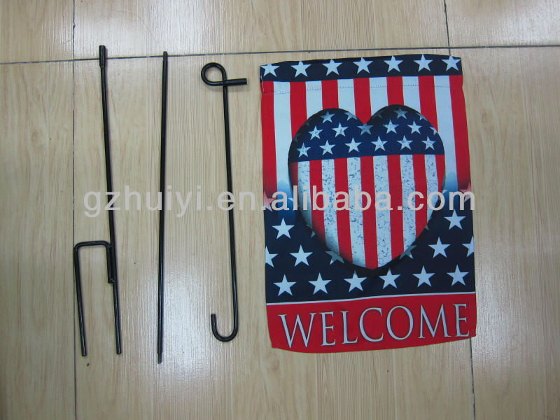 garden flag with American flag ,bow blank flags for printing