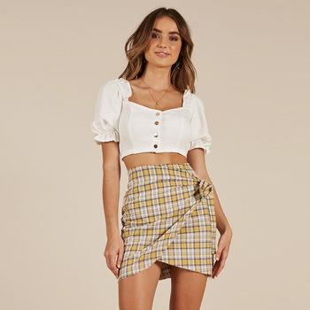 f6a0e5b44e6 Z52182D Korean summer plaids print lady skirt sexy girls wearing women  short skirts