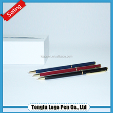 Metal twist hotel ball pen slim for promotion