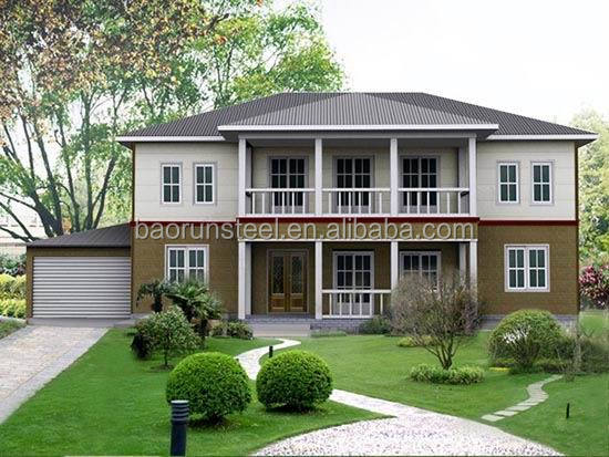 famous structure modern design Light Steel Prefabricated Smart House in Turkey