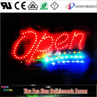 3W energy saving led neon open sign for shops/factory direct sales led sign board