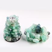 Yase material natural de piedra para mostrar de piedra de ágata de la decoración de la casa de ágata azul para la decoración casa de cristal de columna