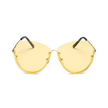 New Transparent Lens Trends Large Frame Glasses Metal Half Frame ...