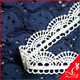 professional scalloped edging 100% polyester water soluble lace trim