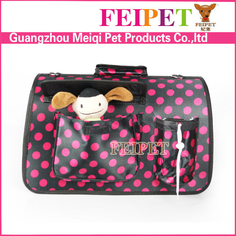 Simple Portable Pet Carriers Small Dog Cages PVC folding pet carrier plastic