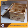 Custom logo 6 bottle wooden wine bottle packaging box with wine tools
