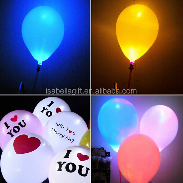 EN 71 high quality led light latex balloon for light toys