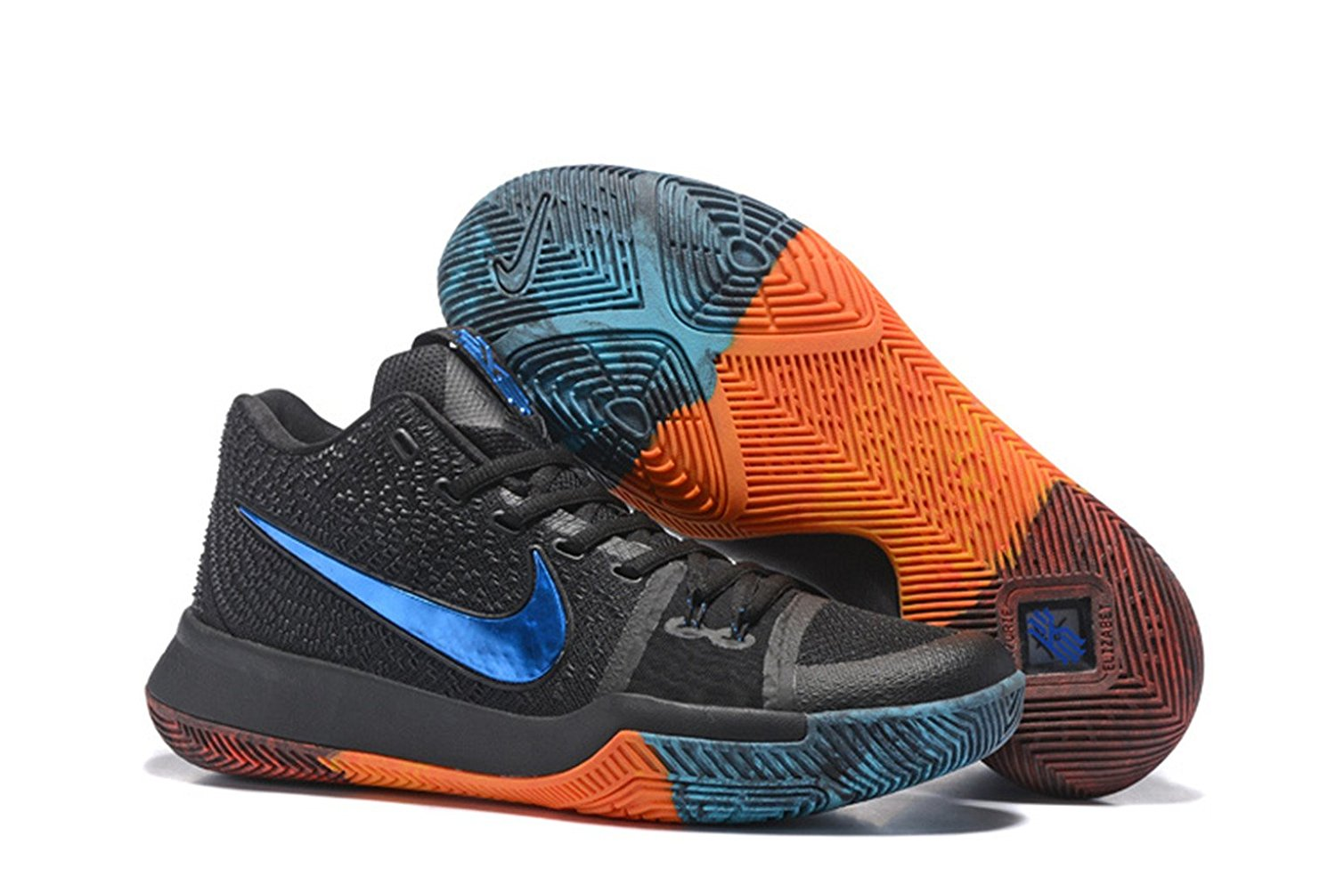 uk availability 071f3 bc32a Buy Nike Kyrie Irving 3 Basketball Shoes Black Blue in Cheap ...