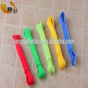 10M,15M,20M best color plastic clothline rope for laundry ,outdoor and campling line with diameter 5mm,6mm
