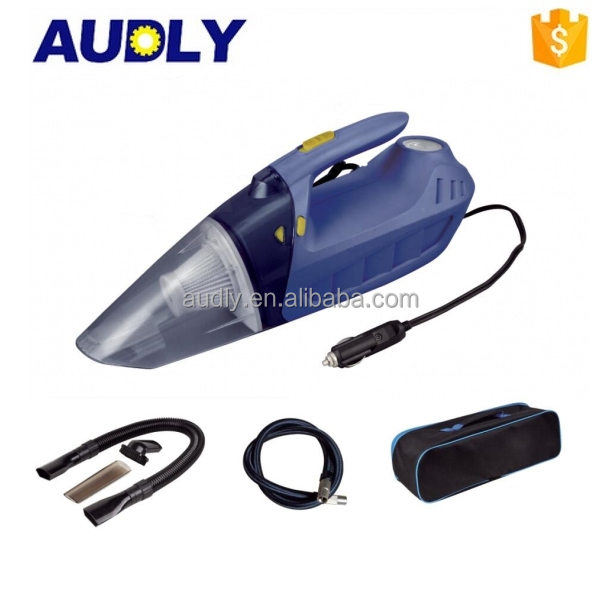 Newly Developed Powerful Portable Wet and Dry Car Vacuum Cleaner with Air Compressor
