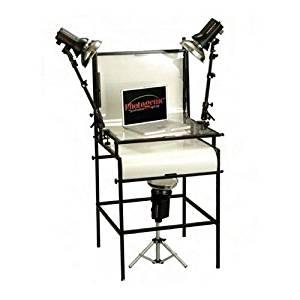 "Photogenic 3-Light WEB Studio Floor Stand Strobe Kit, with 3 AKC 160 Constant Color Monolights, 2 Swivel Light Brackets, 1 Stand, 1 TST24 24"" Shooting Table & 24"" Riser Legs (AK60WK)"