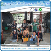 environmental friendly used plastic pyrolysis oil extraction machine with CE /ISO waste plastic processing recycling plant