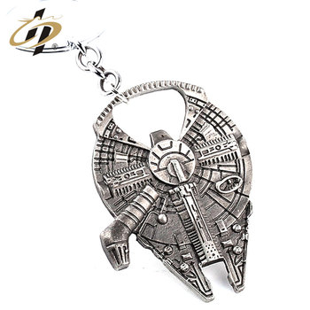 Hot sale Wholesale antique silver custom casting robot  bottle opener key chain