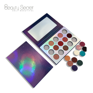 Hot selling OEM single vagen and cruelty free Eye shadow high pigment Glitter eyeshadow with empty palette
