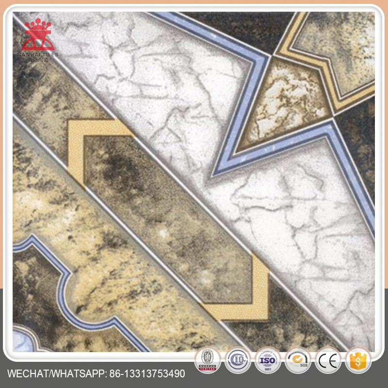 Alibaba factory CE certificate glazed porcelain metallic floor tile