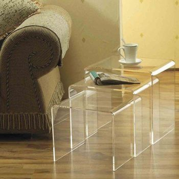 Cool Clear Acrylic Stacking Nesting Table Set Perspex Waterfall Coffee End Table Lucite Console Table Buy Clear Acrylic Stacking Nesting Table Caraccident5 Cool Chair Designs And Ideas Caraccident5Info