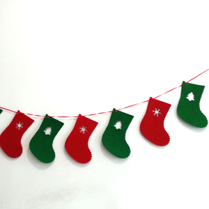wholesale felt christmas garland for holiday party decoration favors