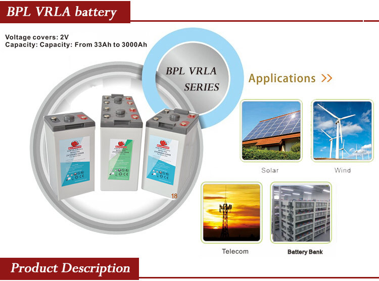 long life alcad battery portable 230v battery 2v 400ah battery BPL2-500