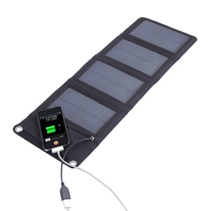 5V 7W Portable Folding Solar Panel Power Source Mobile USB Charger for Cell phones GPS Digital Camera