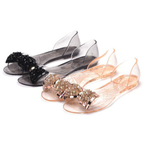 new arrival jelly shoes , clear pvc jelly sandals