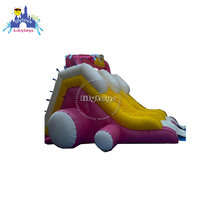 Lilytoys new design, penguin inflatable wet slide, 20ft length slide