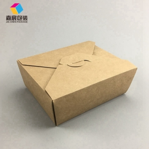 Professional packaging manufacturing lunch hot food takeaway boxes kraft paper package box