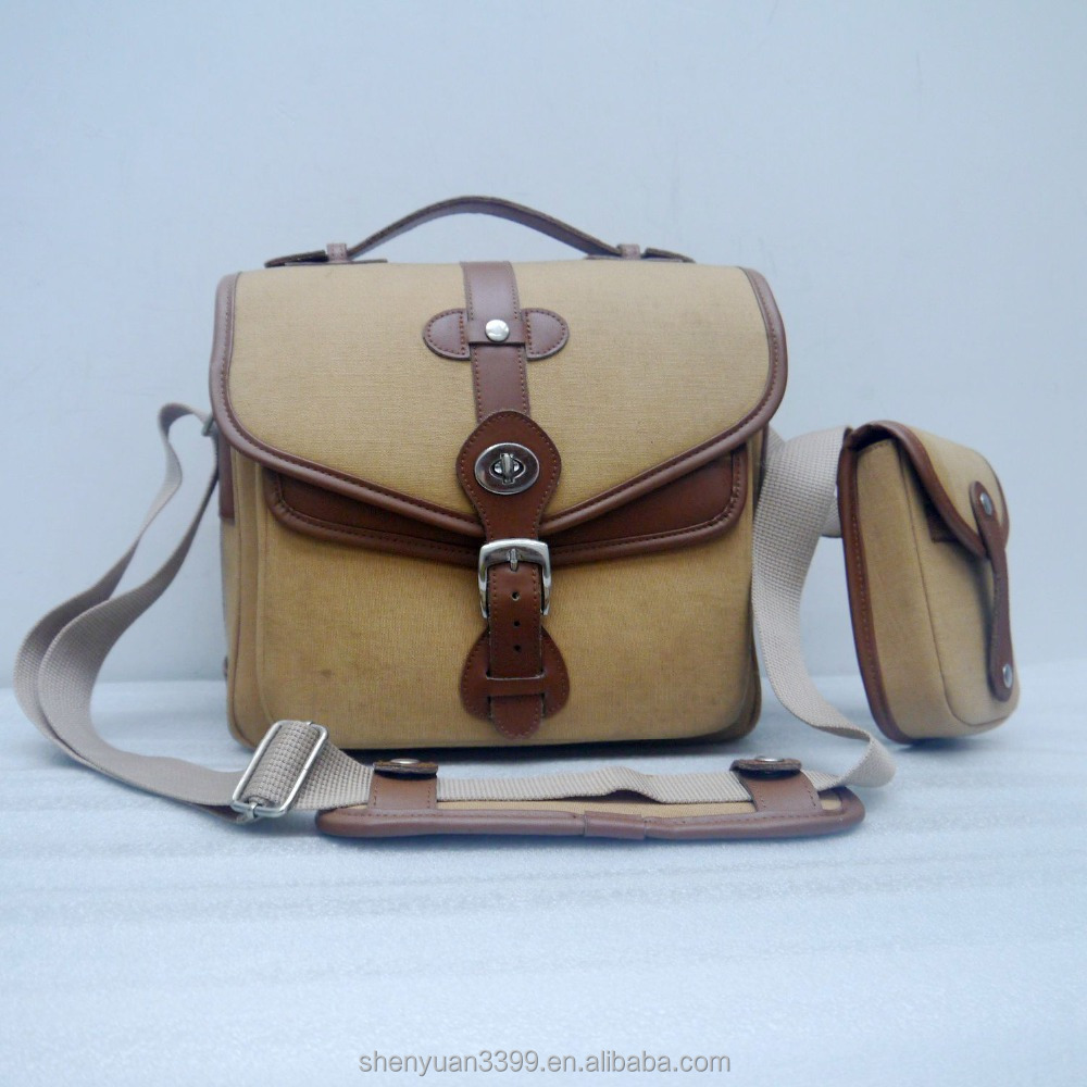 China manufacturer customized vintage leather camera bag travel photo lens camera hard bag