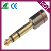 6.35mm to 3.5mm Stereo Socket Jack Headphone Adapter Converter Plug