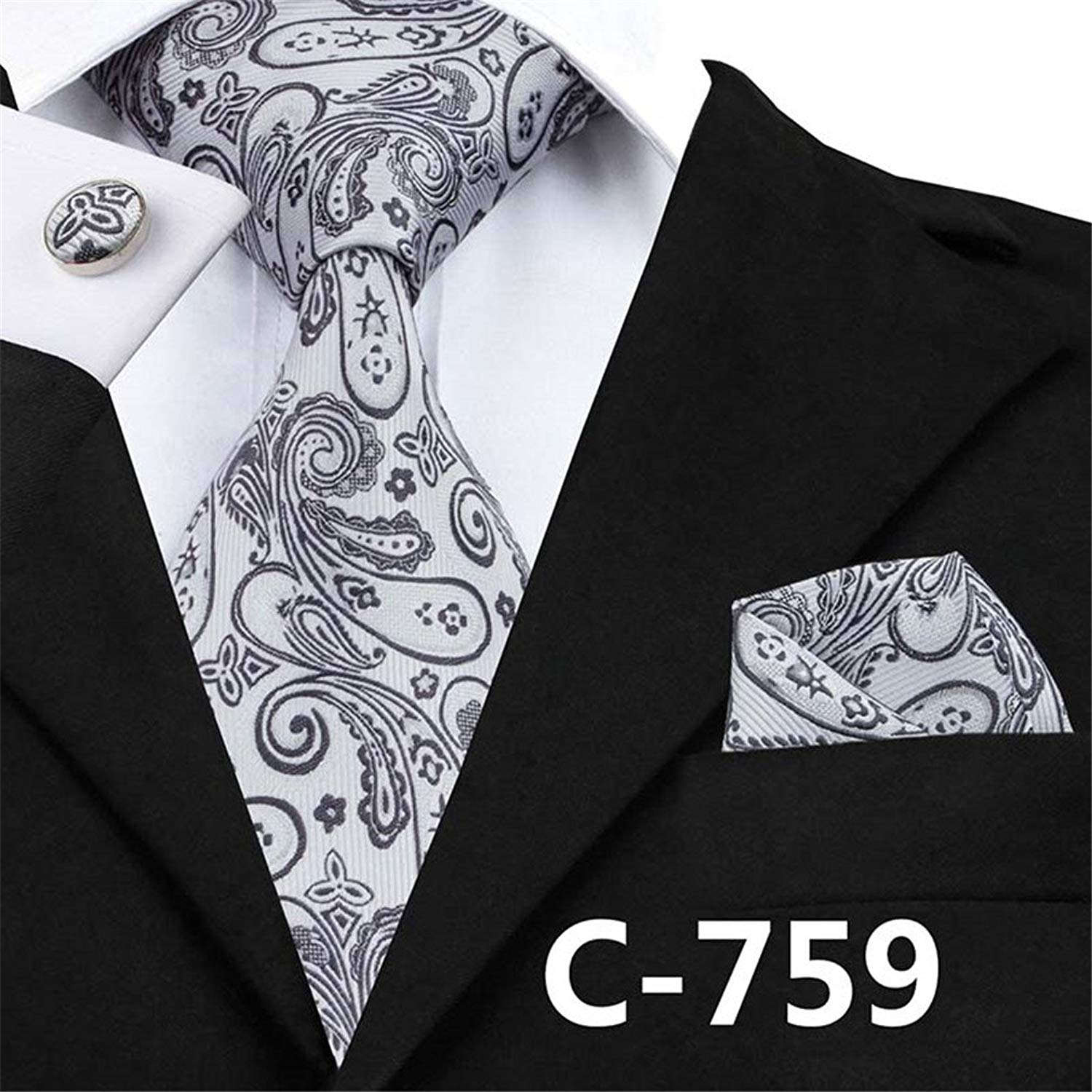 7873102f777 Get Quotations · Classic Mens Ties Stripes Tie Hanky Cufflinks Set Hot  Selling Ties For Handsome Business Mens