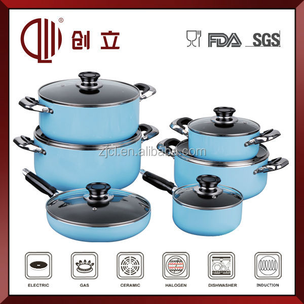 Wholesale aluminum colorful gas cooking pot cookware camping cook set