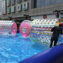 colorful inflatable bubble roller,air water game water &roller ball