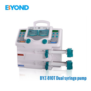 good pqrice CE Qualified convenient china supplier medical use 50ml dual syringe pump