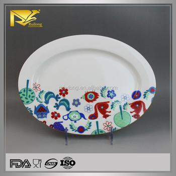 China Supplier Decal Ceramic Oval Dinner Plates,Bulk White Dinner ...