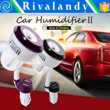 Car mist air mini humidifier with aroma used as mobile charger