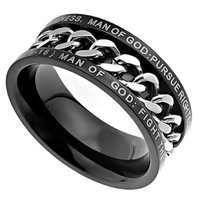 Chain Spinner Chastity Ring for Boys, Guys Purity Ring