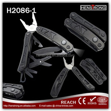 Stainless Steel Foldable Combination Pliers Multi Tool With LED