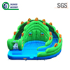 Green dragon shape giant inflatable water slide swimming pool