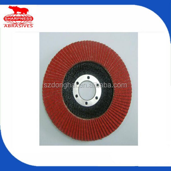 HD 412.2 fiberglass backing 4'' flap disc ceramic
