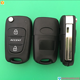 Accent Modified Flip Remote Key Shell 3 button for Hyundai key shell