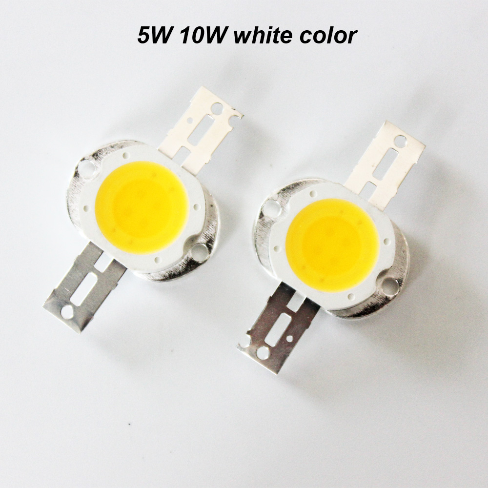 Taiwan Epistar chip white color 5w cob high power led 6v