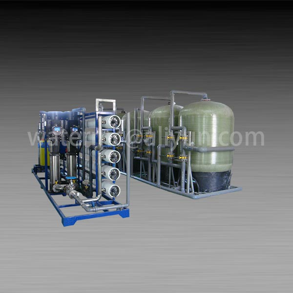 Open water purification plant