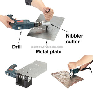 Double Head Sheet Nibbler Metal Cutter Hole Saw Drill Attachment 3pcs Workshop Tool Power Tools Accessaries Clean Cutting Iron,