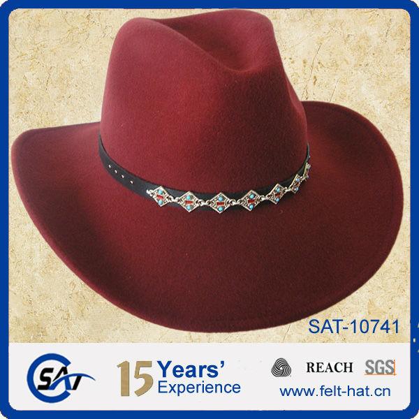 Wool felt Red Cowgirl hats 100% Wool felt Red Cowgirl hats 5767e2cda5e