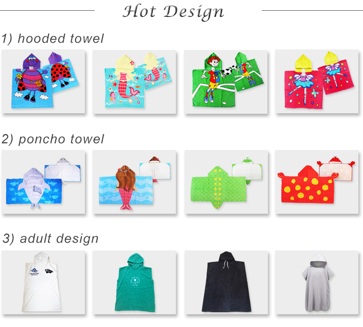 factory wholesale 100% cotton printed custom hooded towel cloth