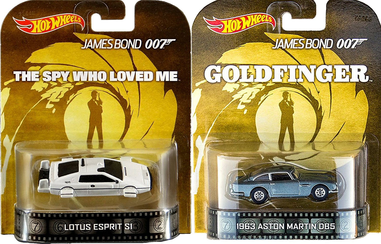 007 Goldfinger Spy Who Loved Me Retro Entertainment Hot Wheels James Bond 2 car Aston Martin DB5 & Lotus Underwater Esprit