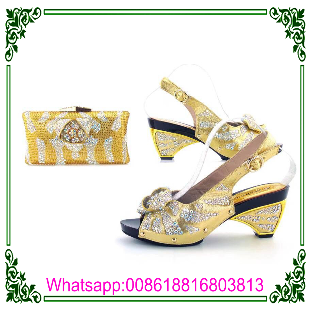 wholesale bag with with African quality ladies high shoes set shining  matching decorated stones 1xT1qpw ... 65b79ecd70b3