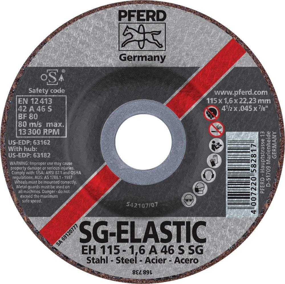 "PFERD 63162 Depressed Centre Cut-Off Wheel, Type 27, Aluminum Oxide A, 4-1/2"" Diameter x .045"" Thickness, 7/8"" Bore, 13300 Max RPM (Pack of 25)"